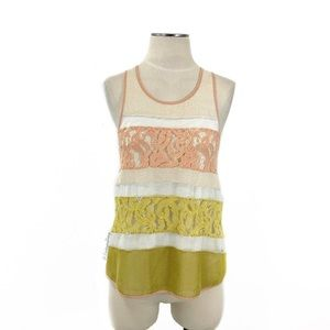 Anthropologie- Sunday in Brooklyn Lace Tank SZ XS